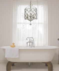1000 images about beautiful bath on pinterest lighting - Small bathroom chandelier crystal ...