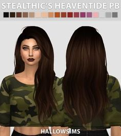 Hallow Sims: Stealthic's Heaventide Pushed Back hair - Sims 4 Hairs - http://sims4hairs.com/hallow-sims-stealthics-heaventide-pushed-back-hair/