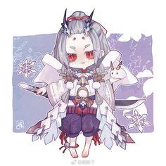 [onmyoji] fan art - chap 5 - Page 3 - Wattpad Cartoon Pics, Cartoon Drawings, Anime Chibi, Anime Art, Chibi Games, Character Inspiration, Character Design, Cute Chibi, Kawaii Anime Girl
