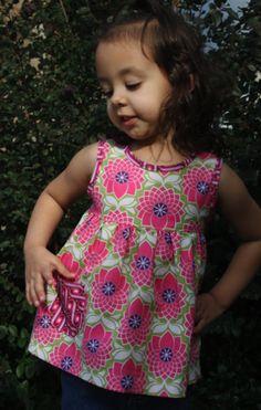 Cute little shirt tutorial (can be made into a cute dress too!) (via Sew Like My Mom)