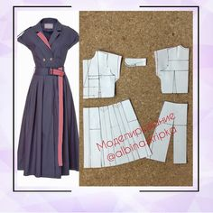 Photos and Videos Coat Patterns, Dress Sewing Patterns, Clothing Patterns, Fashion Tips For Women, Diy Fashion, Fashion Outfits, Expensive Clothes, Jumpsuit Pattern, Dress Tutorials