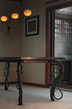 Conference or Dining Table from Red Iron Studio, Frederic, WI