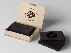 Have a look at these impressive dark business cards. The were created for and by Dekker Slade. The cards itself are dark grey and their content is pitch bl