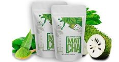 4oz SOURSOP TEA POWDER - MATCHA (70 Servings)