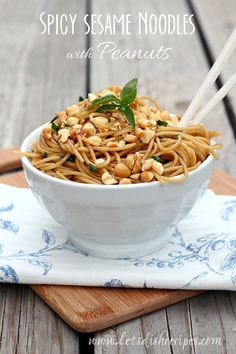 My family loves these Easy Sesame Noodles, but I was still surprised at what a huge hit this kicked up version was with my ...