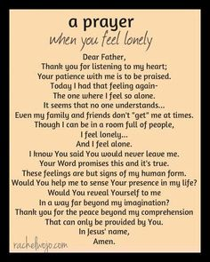 #Prayer - when you #feel #lonely