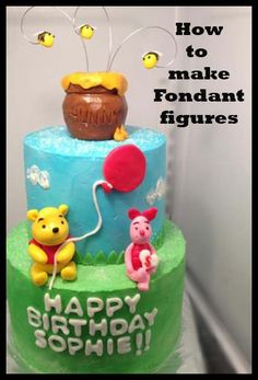 Winnie the Pooh. How to make Fondant Figures! Great tutorial. May want to check out if I ever get the urge, since I got that gift.