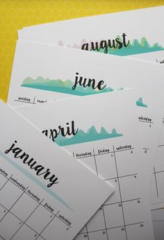 Freebie | Printable Abstract Geode Calendar