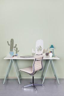 Wall art muurstickers cactus blauwe pot S + L / cactus groene pot S / cactus stolp L / cactus witte pot S / cactus bruine pot S.  Alles uit de We are colour collectie, by BOSS paints