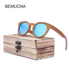 BEMUCNA bamboo Wood Sunglasses Men 2017 Cat Eye Sun Glasses For Women Fashion Ladies Eyeglasses Vintage oculos de sol man style casual ~ Offer can be found online by clicking the image