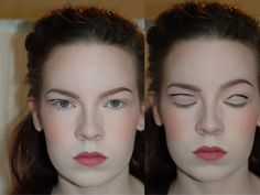 Of course, you wouldn't actually draw a black line and then head out for the evening, but the black line shows how applying shadow with your eyes open will give you a different, more visible shape. Get more tips for hooded eyes here.
