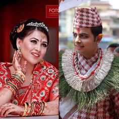 Nepali bride n groom ... Traditional outfit bride and groom !