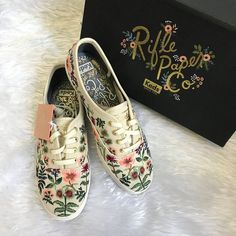 Keds x Rifle Paper Co Herb Garden embroidered sneakers