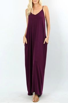 Take Me Away Dark Plum Maxi