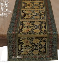 Checkout this latest Table Runners Product Name: *Colorful Brocade & Poly Satin Table Runners* No. of Pieces: 1 Pattern: Printed Product Breadth: 16  Product Length: 60  Add Ons: No Add ons Multipack: 1 Country of Origin: India Easy Returns Available In Case Of Any Issue   Catalog Rating: ★4.5 (445)  Catalog Name: Elegant Designer Poly Satin Table Runners Vol 2 CatalogID_92922 C129-SC1127 Code: 834-808555-9501