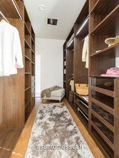 22 Villa Lumous - Vaatehuone | Asuntomessut Walk In Closet, Cabinet, Storage, Room Ideas, Villa, Furniture, Home Decor, Clothes Stand, Purse Storage