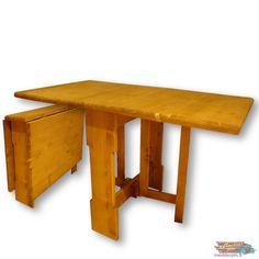TABLE PLIANTE de Cuisine en Bois Massif Ciré 140x80 cm| meublespin.fr Decoration, Fold Down Table, Surfboard Wax, Furniture, Home Decoration, Decor, Dekoration, Decorations, Embellishments