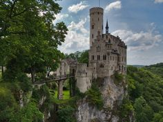 31 Places Everyone Should Visit Before They Die ◉ Lichtenstein Castle, Baden-Württemberg, Germany.  ◉ re-pinned by http://www.waterfront-properties.com/junobeachrealestate.php