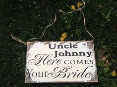 Hey, I found this really awesome Etsy listing at https://www.etsy.com/listing/158533730/uncle-wedding-sign