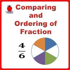 Children learn to compare and arrange order of like and unlike fractions with visual model. Kids learn to identify: - Smallest or greatest fraction from a set of three fractions with same denominator but different numerator - Smallest or greatest fraction from a set of three fractions with same numerator but different denominator