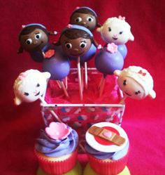 Doc McStuffins cake pop/cupcake theme for Myers Myers MyLife Doc Mcstuffins Cake, Doc Mcstuffins Birthday Party, 2nd Birthday Parties, Birthday Fun, Birthday Ideas, Cake Pops, Cute Cakes, Cupcake Cookies, Amazing Cakes