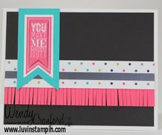 December Here's my December stamp kit of the month.  Video on my blog: http://www.luvinstampin.com/2013/12/stamp-kit-of-month-december.html Perfect Pennants stamp set, banner framelits   Occasions 2014 stampin up