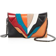 Elena Ghisellini Selina Color Block Leather Clutch (€735) ❤ liked on Polyvore featuring bags, handbags, clutches, leather handbags, colorblock handbags, block purse, leather colorblock handbags and genuine leather purse