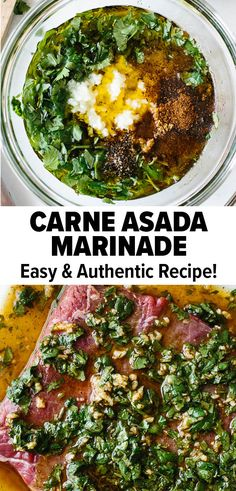 May 2020 - This carne asada marinade is packed with all the essential Mexican flavors. It's zesty, spicy, and refreshing from the use of six simple ingredients. Use it for carne asada tacos, carne asada fries, and more! Carne Asada Tacos Recipe, Carne Asada Marinade, Carne Asada Fries, Beef Marinade, Carne Asada Recipes Easy, Carne Asada Burrito, Healthy Beef Recipes, Mexican Food Recipes, Chicken