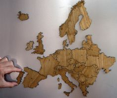 Fancy - Europe Magnetic Map Puzzle Birch Plywood www.beaufly.com 02-523-9182