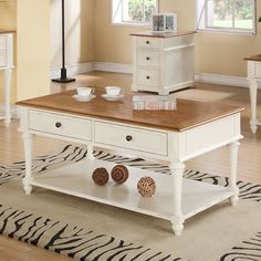 """Emerald Home Furnishings Brighton Coffee Table; Overall: 20"""" H x 48"""" W x 28"""" D"""