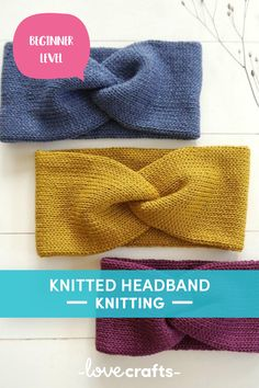 This super simple knitted headband patter is the perfect beginner project! | Downloadable PDF at LoveCrafts.com