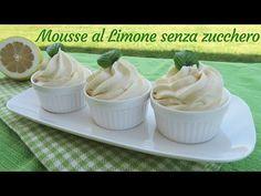 MOUSSE AL LIMONE SENZA ZUCCHERO AGGIUNTO - Ricetta con Stevia - YouTube Stevia, Gelato, Biscotti, Nutella, Trifle, Cake Pops, Pudding, Baking, Sweet