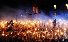 Viking Festival in Shetlands, Scotland