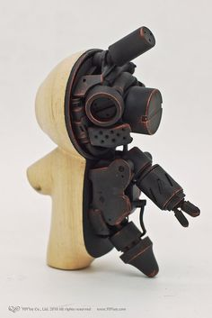 Creative Wood, Rabbit, Sculpture, Toy, and Design image ideas & inspiration on Designspiration 3d Figures, Vinyl Figures, Toy Art, Vinyl Toys, Vinyl Art, Arte Cyberpunk, Robot Design, Design Art, Ex Machina