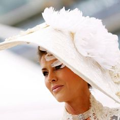 Belinda Strudwick in hand made and embellished lace #bespoke hat for #Ascot by The State of Grace