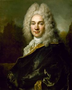 Pierre Cadeau de Mongazon, by Nicolas de Largillière, circa 1715-20  Handsome man beneath that foolish wig!