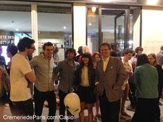 La Team Casio devant la Cremerie de Paris profite de la soirée d'ouverture du Pop up store ! Pop Up, Stores, Casio, Openness, Popup