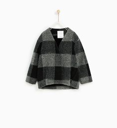 ZARA - KIDS - CHECKED JACKET WITH FAUX FUR LINING
