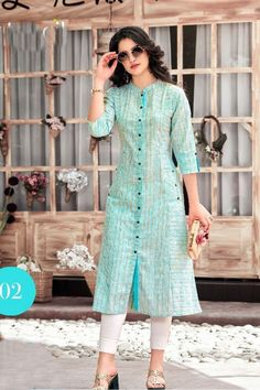 Wholesale Indian Office Wear Printed Cotton Long Kurti Collection | Bulk Supplier