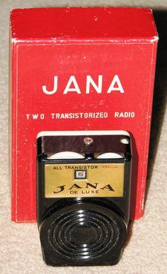 A vintage Jana 2-transistor Boy's Radio, made in Japan.
