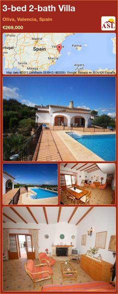3-bed 2-bath Villa in Oliva, Valencia, Spain ►€269,000 #PropertyForSaleInSpain