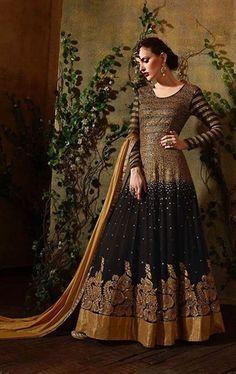 Exotic Black Designer Anarkali Salwar Suit