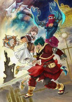 Baten Kaitos Origins - Guillo, Milly, and Sagi