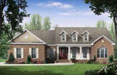 Elevation of Country   European   Traditional   House Plan 59106