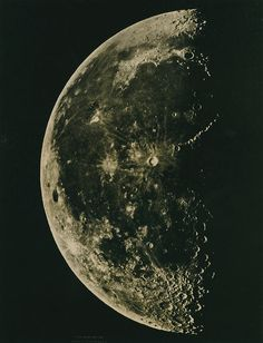 The Moon, Made at the observatory, Cordoba Spain 1876