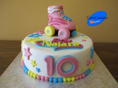 Tartas fondant Leganés tarta_fondant_patines_soy_luna_leganes Soy Luna Cake, Fondant Tutorial, Fondant Cakes, Cupcake Toppers, Cake Decorating, Birthday Cake, Cookies, Baking, Rollers