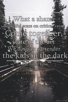 all time low, band, edit, lyrics, song, lock screen, kids in the dark