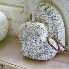 Wooden Heart Decoration  by Nkuku