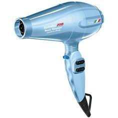BaBylissPro Nano Titanium 2000-watt Portofino Dryer BABNTB6610N (1.858.015 IDR) ❤ liked on Polyvore featuring blue