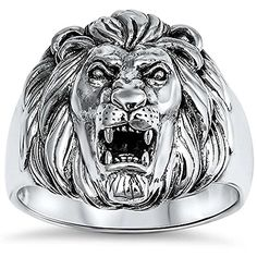 New Solid Lion 925 Sterling Silver Ring Size 9 -- You can find out more details at the link of the image.Note:It is affiliate link to Amazon.